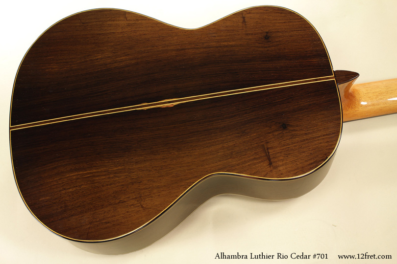 Alhambra Luthier Rio Concert Classical Cedar 701 back