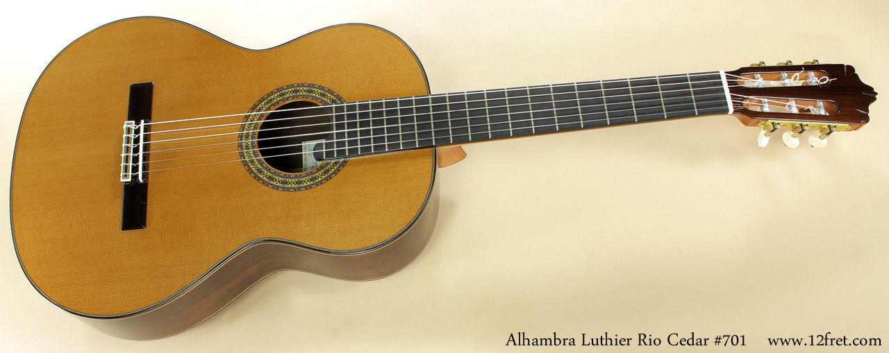 Alhambra Luthier Rio Concert Classical Cedar 701 full front view