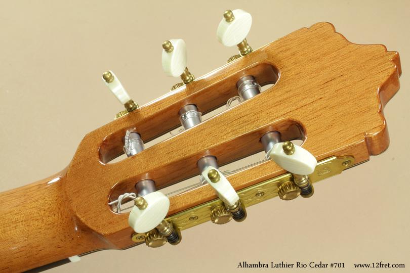 Alhambra Luthier Rio Concert Classical Cedar 701 head rear view