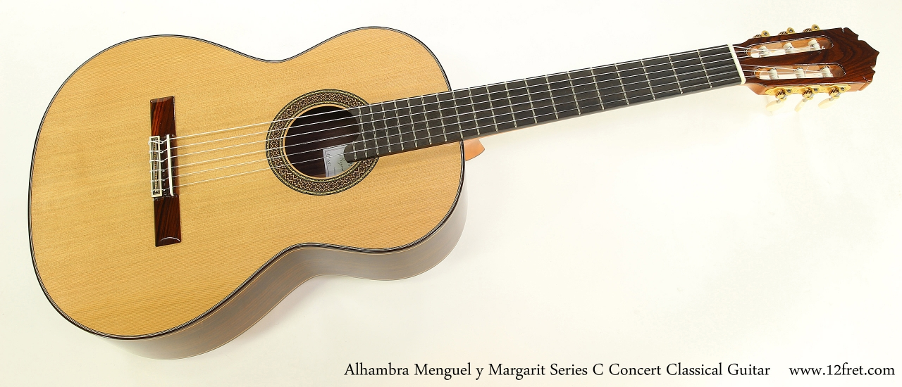 Alhambra Menguel y Margarit Series C Concert Classical Guitar  Full Front View