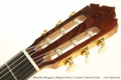 Alhambra Menguel y Margarit Series C Concert Classical Guitar  Head Front View