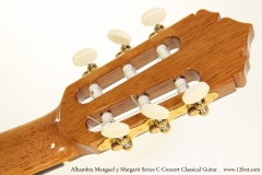 Alhambra Menguel y Margarit Series C Concert Classical Guitar  Head Rear View