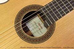 Alhambra Menguel y Margarit Series C Concert Classical Guitar  Rosette View