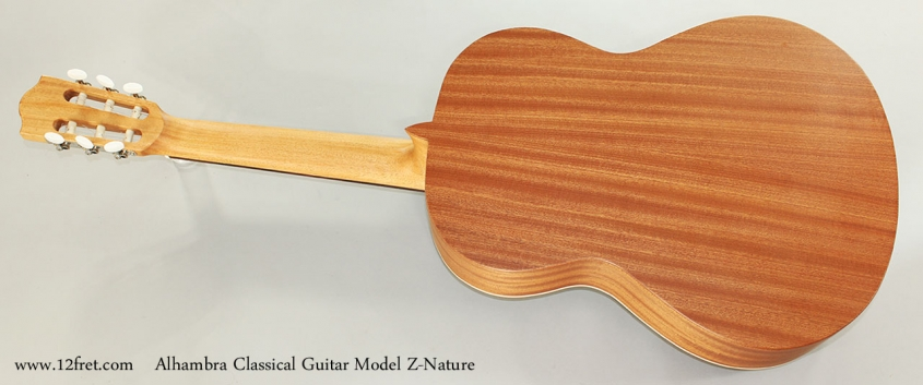 Alhambra Classical Guitar Model Z-Nature Full Rear View