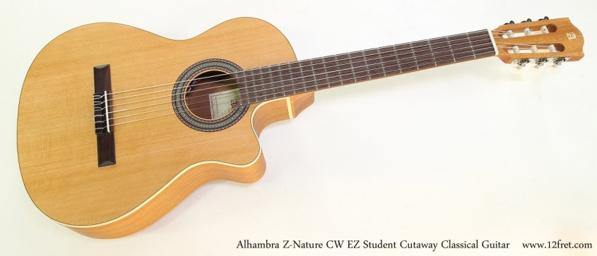 Alhambra Z-Nature CW EZ Student Cutaway Classical Guitar   Full Front View