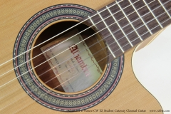 Alhambra Z-Nature CW EZ Student Cutaway Classical Guitar   Label View