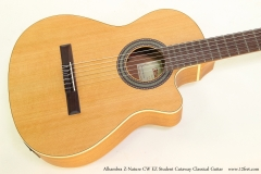 Alhambra Z-Nature CW EZ Student Cutaway Classical Guitar   Top View