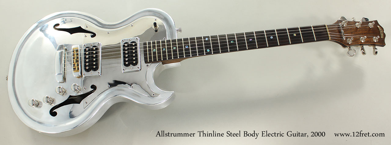 Allstrummer Thinline Steel Body Electric Guitar, 2000 Full Front View