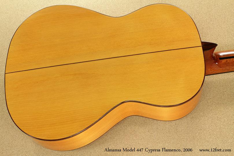 Almansa Model 447 Cypress Flamenco, 2006  back