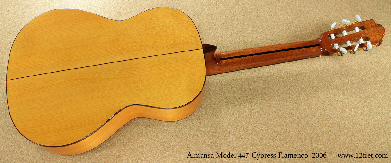 Almansa Model 447 Cypress Flamenco, 2006  full rear view