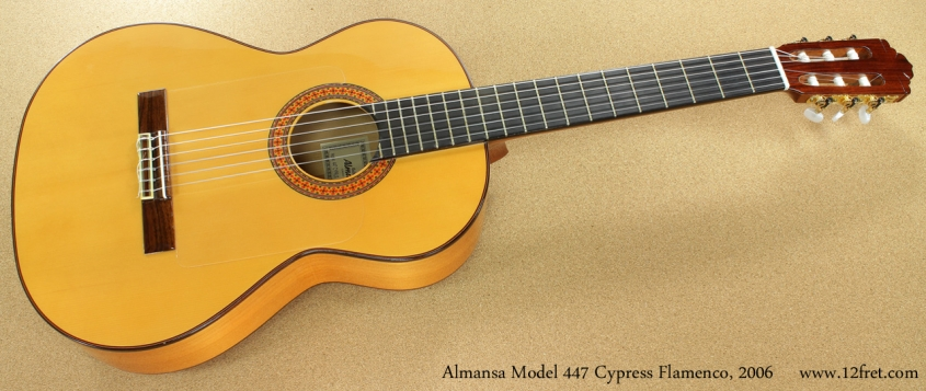 Almansa Model 447 Cypress Flamenco, 2006 full front view