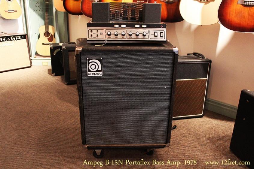 Ampeg B-15N Portaflex Bass Amp, 1978 Full Front View