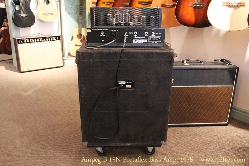 Ampeg B-15N Portaflex Bass Amp, 1978 Full Rear View