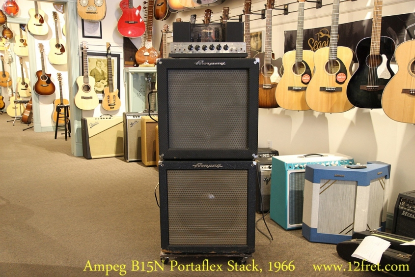 Ampeg B15N Portaflex Stack, 1966 Full Front View