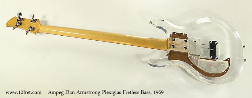Ampeg Dan Armstrong Plexiglas Fretless Bass, 1969 Full Rear View