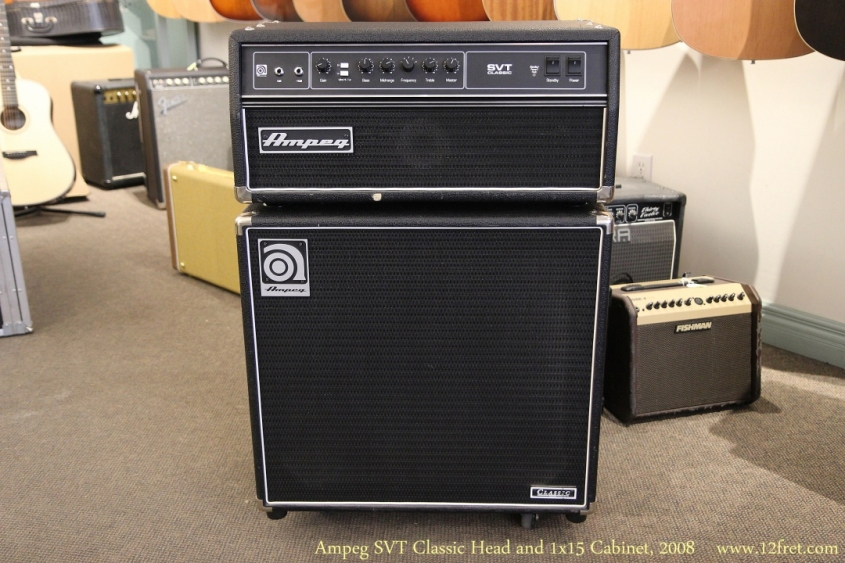 Ampeg SVT Classic Head and 1x15 Cabinet, 2008 Full Front View