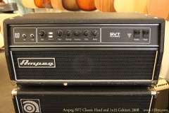 Ampeg SVT Classic Head and 1x15 Cabinet, 2008 Head Front View