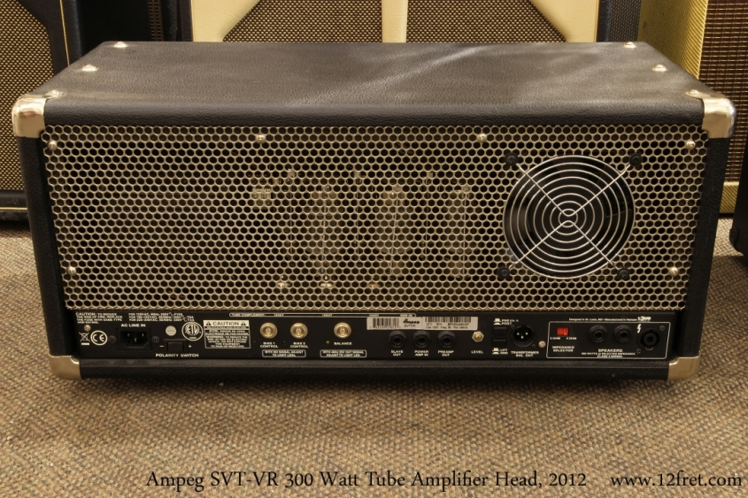 Ampeg SVT-VR 300 Watt Tube Amplifier Head, 2012   Full Rear View
