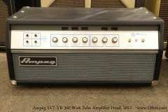 Ampeg SVT-VR 300 Watt Tube Amplifier Head, 2012   Full Front View