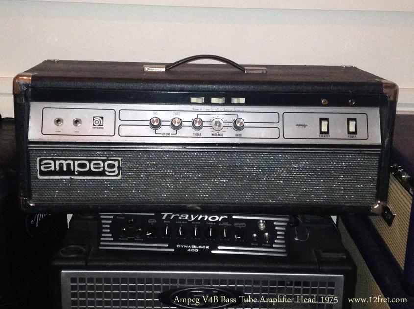 Ampeg V4B Bass Tube Amplifier Head, 1975
