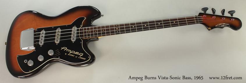 Ampeg Burns Vista-Sonic Bass, 1965 Full Front View