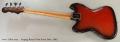 Ampeg Burns Vista-Sonic Bass, 1965 Full Rear View