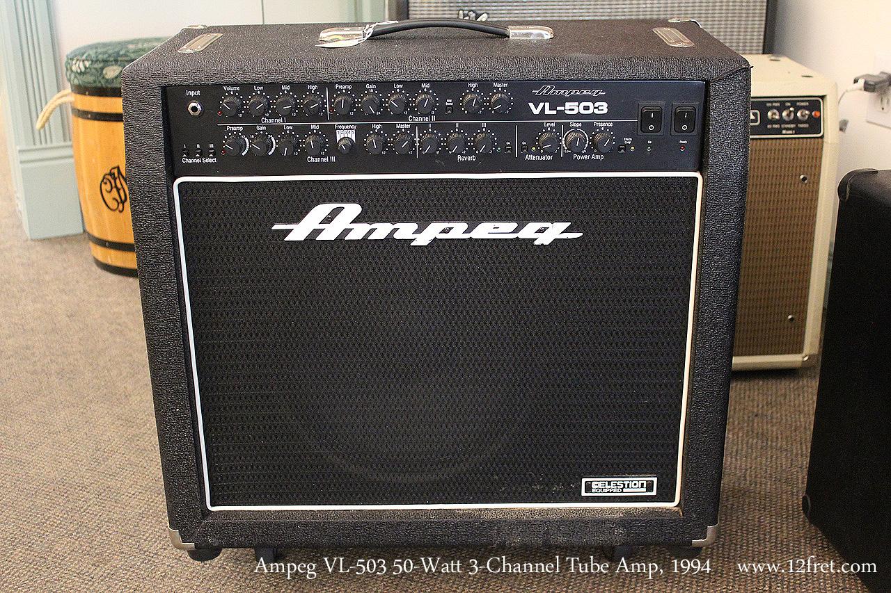 Ampeg VL-503 50-Watt 3-Channel Tube Amp, 1994 Full Front View