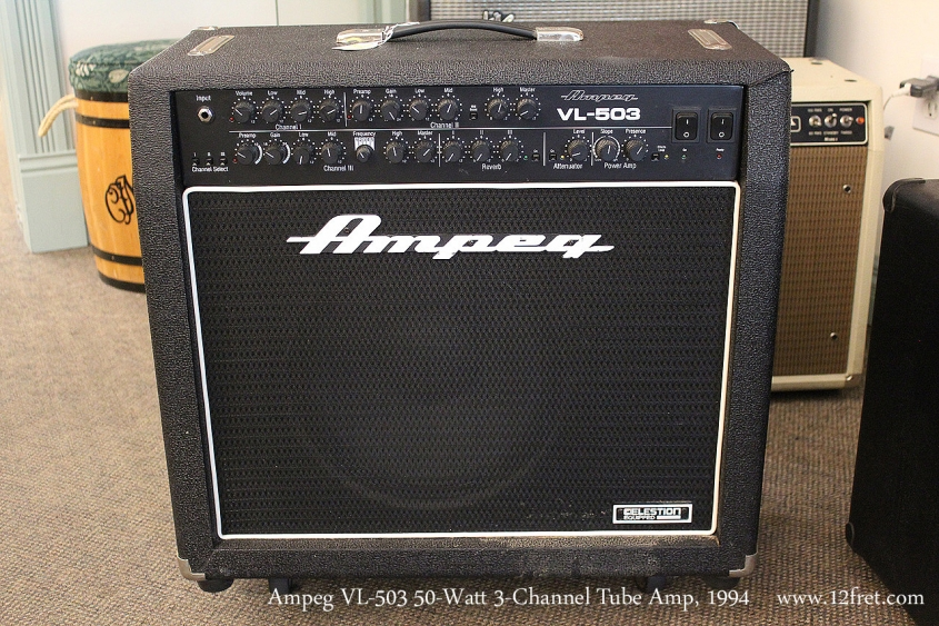 Ampeg VL-503 50-Watt 3-Channel Tube Amp, 1994 Full Front View