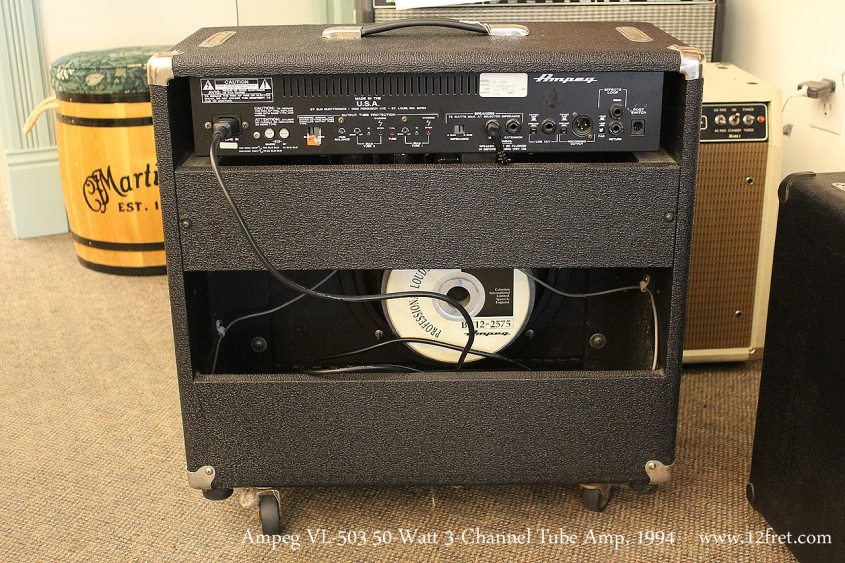 Ampeg VL-503 50-Watt 3-Channel Tube Amp, 1994 Full Rear View