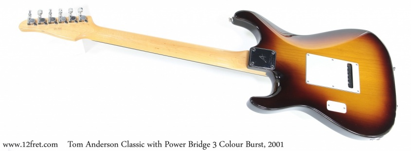 Tom Anderson Classic with Power Bridge 3 Colour Burst, 2001 Full Rear View