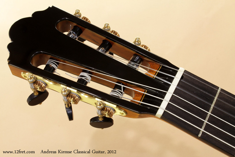 Andreas Kirmse Classical Double Top Guitar 2012 head front