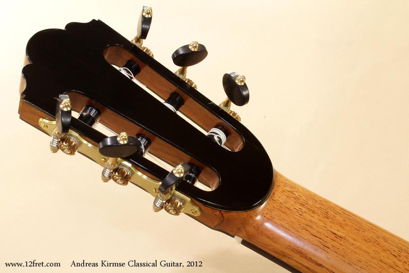 Andreas Kirmse Classical Double Top Guitar 2012 head rear