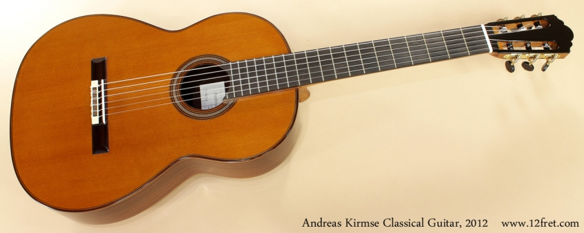 Andreas Kirmse Classical Double Top Guitar 2012 full front view
