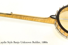 Whyte Laydie Style Banjo Unknown Builder, 1980s Full Rear View