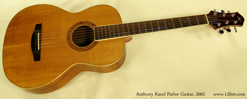 Anthony Karol parlor guitar 2002 full front view