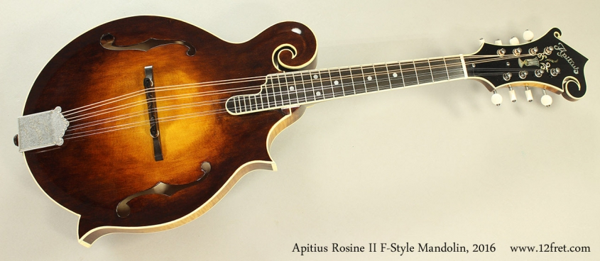 Apitius Rosine II F-Style Mandolin, 2016 Full Front View