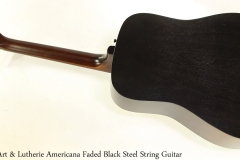 Art & Lutherie Americana Faded Black Steel String Guitar Full Rear View