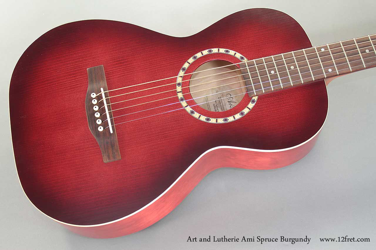 Art and Lutherie Ami Spruce Burgundy top