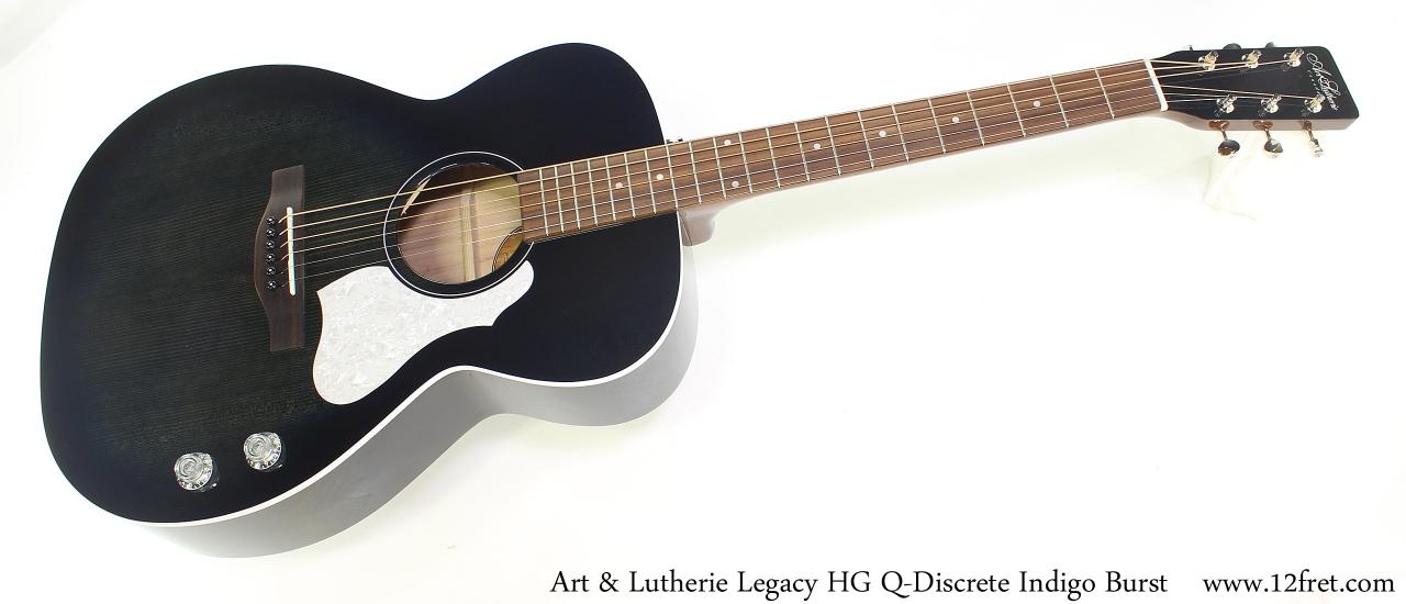 Art & Lutherie Legacy HG Q-Discrete Indigo Burst Full Front View