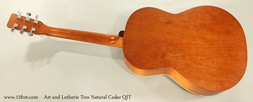 Art and Lutherie Tres Natural Cedar QIT Full Rear View
