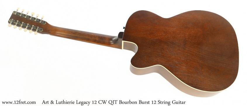 Art & Luthierie Legacy 12 CW QIT Bourbon Burst 12 String Guitar Full Front View