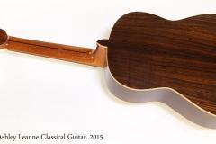 Ashley Leanne Classical Guitar, 2015   Full Rear View