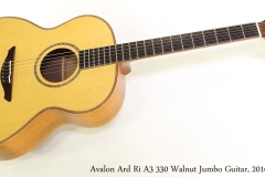 Avalon Ard Ri A3 330 Walnut Jumbo Guitar, 2016 Full Front View