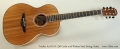 Avalon Ard Ri S1-330 Cedar and Walnut Steel String Guitar Full Front View