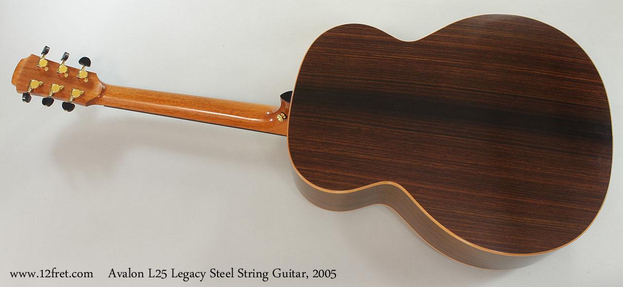 Avalon L25 Legacy Steel String Guitar, 2005 Full Rear View