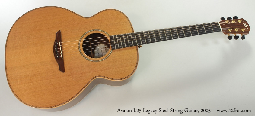 Avalon L25 Legacy Steel String Guitar, 2005 Full Front View