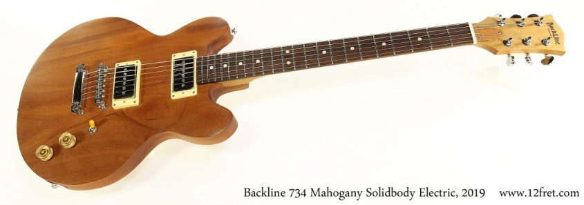 Backline 734 Mahogany Solidbody Electric, 2019 Full Front View