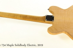 Backline 734 Maple Solidbody Electric, 2019 Full Rear View