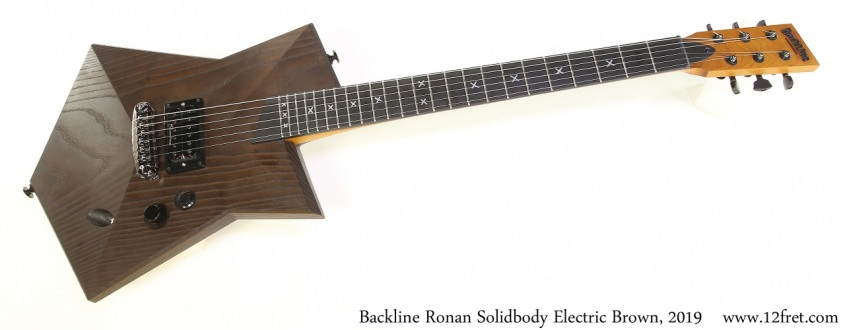 Backline Ronan Solidbody Electric Brown, 2019 Full Front View