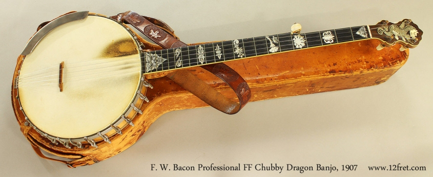 F. W. Bacon Professional FF Chubby Dragon Banjo, 1907 Full Front View